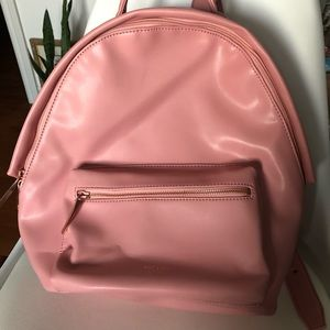 Pink Mat & Nat vegan leather backpack
